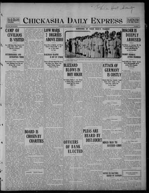 Primary view of object titled 'Chickasha Daily Express (Chickasha, Okla.), Vol. SEVENTEEN, No. 10, Ed. 1 Wednesday, January 12, 1916'.