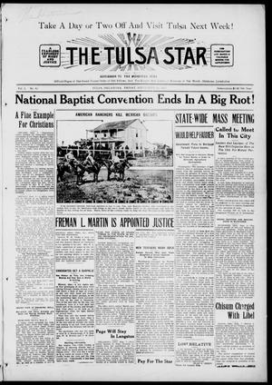 Primary view of object titled 'The Tulsa Star (Tulsa, Okla.), Vol. 3, No. 42, Ed. 1, Friday, September 10, 1915'.