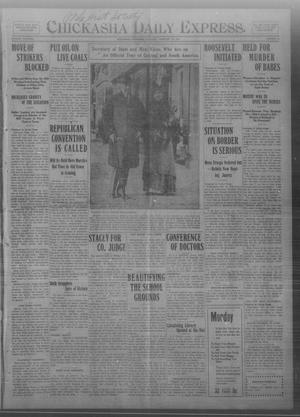 Primary view of object titled 'Chickasha Daily Express. (Chickasha, Okla.), Vol. THIRTEEN, No. 48, Ed. 1 Saturday, February 24, 1912'.