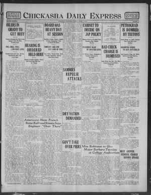 Primary view of object titled 'Chickasha Daily Express (Chickasha, Okla.), Vol. 19, No. 55, Ed. 1 Tuesday, March 5, 1918'.