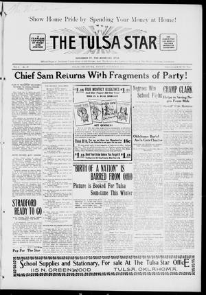 Primary view of object titled 'The Tulsa Star (Tulsa, Okla.), Vol. 3, No. 47, Ed. 1, Friday, October 8, 1915'.