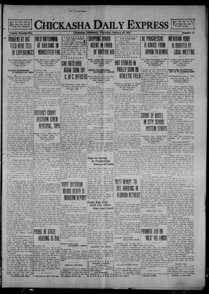 Primary view of object titled 'Chickasha Daily Express (Chickasha, Okla.), Vol. 22, No. 17, Ed. 1 Thursday, January 20, 1921'.