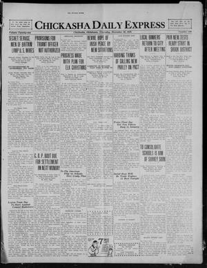 Primary view of object titled 'Chickasha Daily Express (Chickasha, Okla.), Vol. 21, No. 299, Ed. 1 Thursday, December 16, 1920'.