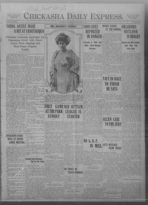 Primary view of object titled 'Chickasha Daily Express. (Chickasha, Okla.), Vol. THIRTEEN, No. 118, Ed. 1 Thursday, May 16, 1912'.