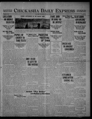 Primary view of object titled 'Chickasha Daily Express (Chickasha, Okla.), Vol. SIXTEEN, No. 89, Ed. 1 Wednesday, April 14, 1915'.