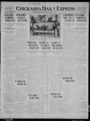 Primary view of object titled 'Chickasha Daily Express (Chickasha, Okla.), Vol. 21, No. 32, Ed. 1 Friday, February 6, 1920'.
