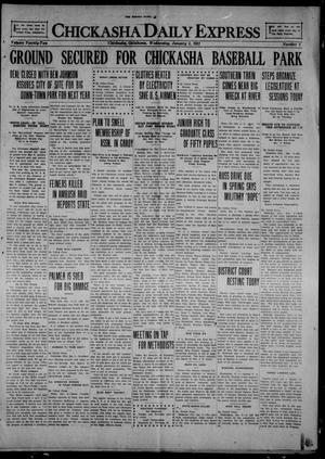 Primary view of object titled 'Chickasha Daily Express (Chickasha, Okla.), Vol. 22, No. 4, Ed. 1 Wednesday, January 5, 1921'.