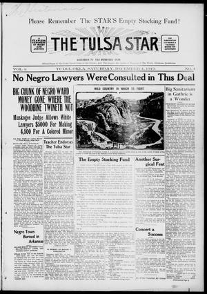 Primary view of object titled 'The Tulsa Star (Tulsa, Okla.), Vol. 4, No. 4, Ed. 1, Saturday, December 4, 1915'.
