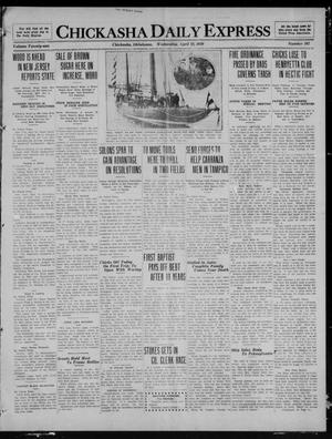 Primary view of object titled 'Chickasha Daily Express (Chickasha, Okla.), Vol. 21, No. 102, Ed. 1 Wednesday, April 28, 1920'.