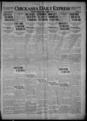 Primary view of object titled 'Chickasha Daily Express (Chickasha, Okla.), Vol. 22, No. 63, Ed. 1 Tuesday, March 15, 1921'.