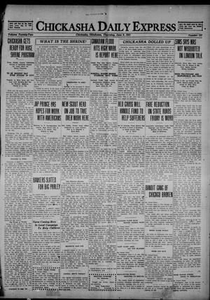 Primary view of object titled 'Chickasha Daily Express (Chickasha, Okla.), Vol. 22, No. 137, Ed. 1 Thursday, June 9, 1921'.