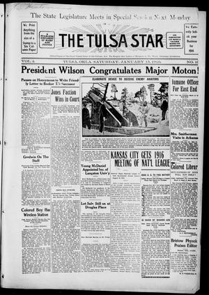 Primary view of object titled 'The Tulsa Star (Tulsa, Okla.), Vol. 4, No. 10, Ed. 1, Saturday, January 15, 1916'.