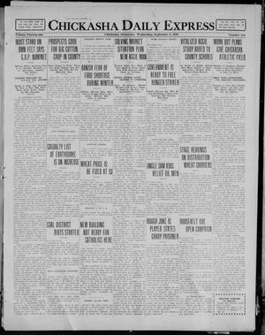 Primary view of object titled 'Chickasha Daily Express (Chickasha, Okla.), Vol. 21, No. 215, Ed. 1 Wednesday, September 8, 1920'.