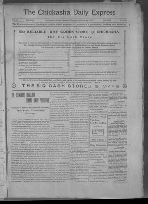 Primary view of object titled 'The Chickasha Daily Express. (Chickasha, Indian Terr.), Vol. 2, No. 272, Ed. 1 Tuesday, October 22, 1901'.