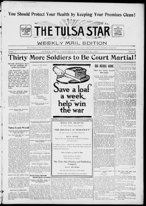 Primary view of object titled 'The Tulsa Star (Tulsa, Okla.), Vol. 6, No. 12, Ed. 1, Saturday, January 26, 1918'.