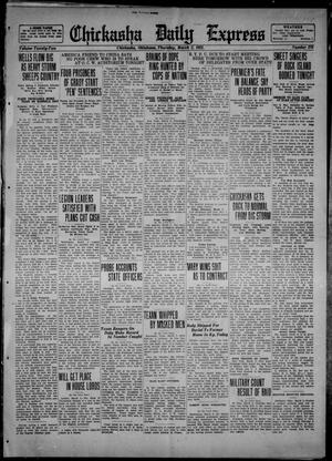 Primary view of object titled 'Chickasha Daily Express (Chickasha, Okla.), Vol. 22, No. 270, Ed. 1 Thursday, March 2, 1922'.