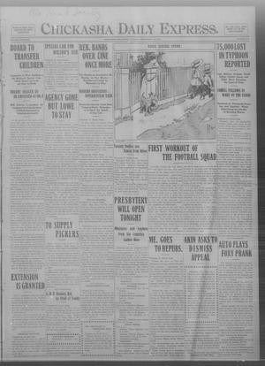 Primary view of object titled 'Chickasha Daily Express. (Chickasha, Okla.), Vol. THIRTEEN, No. 214, Ed. 1 Tuesday, September 10, 1912'.