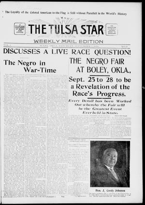 Primary view of object titled 'The Tulsa Star (Tulsa, Okla.), Vol. 6, No. 42, Ed. 1, Saturday, September 14, 1918'.