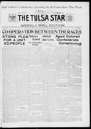 Primary view of object titled 'The Tulsa Star (Tulsa, Okla.), Vol. 6, No. 44, Ed. 1, Saturday, September 28, 1918'.