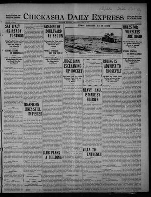 Primary view of object titled 'Chickasha Daily Express (Chickasha, Okla.), Vol. SIXTEEN, No. 95, Ed. 1 Wednesday, April 21, 1915'.