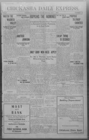 Primary view of object titled 'Chickasha Daily Express. (Chickasha, Okla.), Vol. 9, No. 78, Ed. 1 Wednesday, April 1, 1908'.