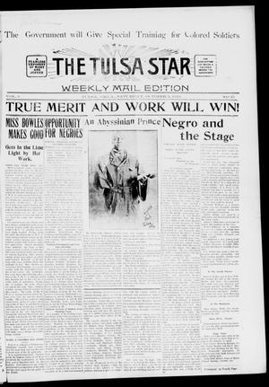 Primary view of object titled 'The Tulsa Star (Tulsa, Okla.), Vol. 6, No. 45, Ed. 1, Saturday, October 5, 1918'.