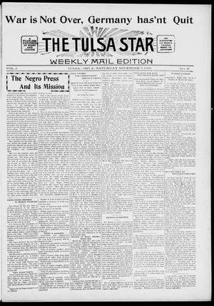 Primary view of object titled 'The Tulsa Star (Tulsa, Okla.), Vol. 6, No. 50, Ed. 1, Saturday, November 9, 1918'.