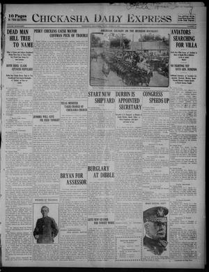 Primary view of object titled 'Chickasha Daily Express (Chickasha, Okla.), Vol. SEVENTEEN, No. 66, Ed. 1 Friday, March 17, 1916'.