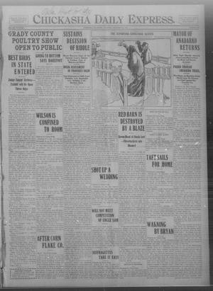 Primary view of object titled 'Chickasha Daily Express. (Chickasha, Okla.), Vol. THIRTEEN, No. 299, Ed. 1 Thursday, December 26, 1912'.