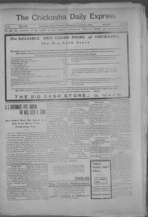 Primary view of object titled 'The Chickasha Daily Express. (Chickasha, Indian Terr.), Vol. 2, No. 261, Ed. 1 Wednesday, October 9, 1901'.