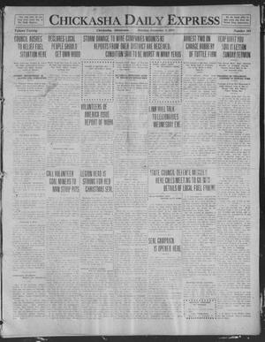 Primary view of object titled 'Chickasha Daily Express (Chickasha, Okla.), Vol. 20, No. 284, Ed. 1 Monday, December 1, 1919'.