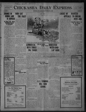 Primary view of object titled 'Chickasha Daily Express. (Chickasha, Okla.), Vol. 10, No. 276, Ed. 1 Monday, November 29, 1909'.