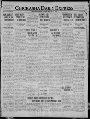 Primary view of object titled 'Chickasha Daily Express (Chickasha, Okla.), Vol. 21, No. 47, Ed. 1 Tuesday, February 24, 1920'.