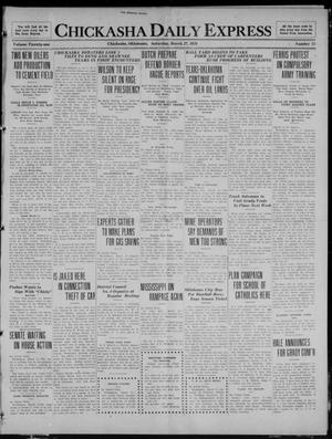 Primary view of object titled 'Chickasha Daily Express (Chickasha, Okla.), Vol. 21, No. 75, Ed. 1 Saturday, March 27, 1920'.