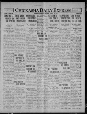 Primary view of object titled 'Chickasha Daily Express (Chickasha, Okla.), Vol. 21, No. 258, Ed. 1 Thursday, October 28, 1920'.