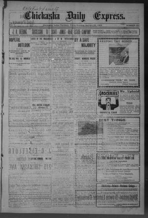 Primary view of object titled 'Chickasha Daily Express. (Chickasha, Indian Terr.), Vol. 7, No. 331, Ed. 1 Friday, January 26, 1906'.