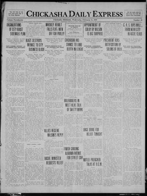 Primary view of object titled 'Chickasha Daily Express (Chickasha, Okla.), Vol. 21, No. 48, Ed. 1 Wednesday, February 25, 1920'.