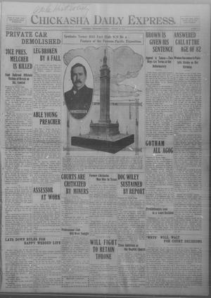 Primary view of object titled 'Chickasha Daily Express. (Chickasha, Okla.), Vol. THIRTEEN, No. 19, Ed. 1 Monday, January 22, 1912'.