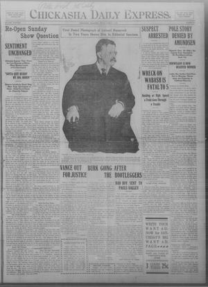 Primary view of object titled 'Chickasha Daily Express. (Chickasha, Okla.), Vol. THIRTEEN, No. 59, Ed. 1 Friday, March 8, 1912'.