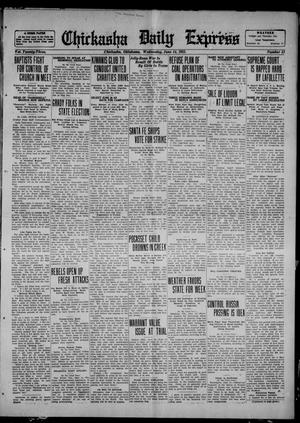 Primary view of object titled 'Chickasha Daily Express (Chickasha, Okla.), Vol. 23, No. 51, Ed. 1 Wednesday, June 14, 1922'.