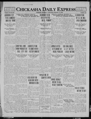 Primary view of object titled 'Chickasha Daily Express (Chickasha, Okla.), Vol. 21, No. 221, Ed. 1 Wednesday, September 15, 1920'.