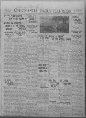 Primary view of object titled 'Chickasha Daily Express. (Chickasha, Okla.), Vol. THIRTEEN, No. 165, Ed. 1 Friday, July 12, 1912'.