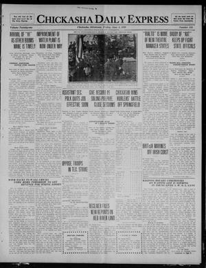 Primary view of object titled 'Chickasha Daily Express (Chickasha, Okla.), Vol. 21, No. 134, Ed. 1 Friday, June 4, 1920'.