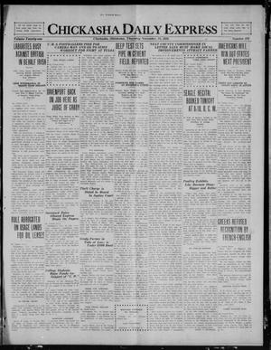 Primary view of object titled 'Chickasha Daily Express (Chickasha, Okla.), Vol. 21, No. 276, Ed. 1 Thursday, November 18, 1920'.