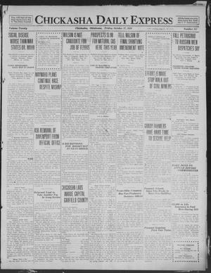 Primary view of object titled 'Chickasha Daily Express (Chickasha, Okla.), Vol. 20, No. 247, Ed. 1 Friday, October 17, 1919'.