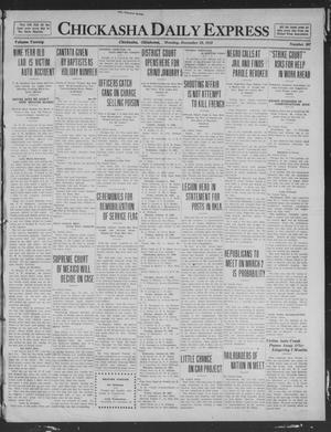 Primary view of object titled 'Chickasha Daily Express (Chickasha, Okla.), Vol. 20, No. 307, Ed. 1 Monday, December 29, 1919'.