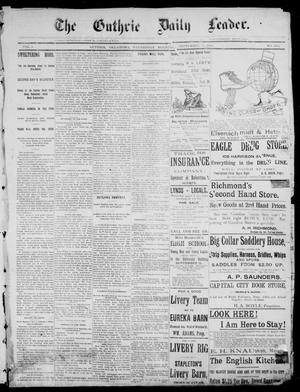 Primary view of object titled 'The Guthrie Daily Leader. (Guthrie, Okla.), Vol. 1, No. 243, Ed. 1, Wednesday, September 13, 1893'.