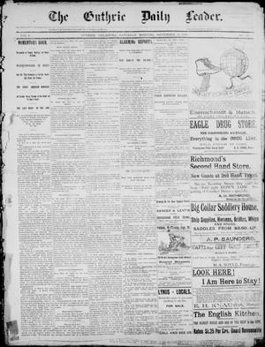 Primary view of object titled 'The Guthrie Daily Leader. (Guthrie, Okla.), Vol. 1, No. 246, Ed. 1, Saturday, September 16, 1893'.