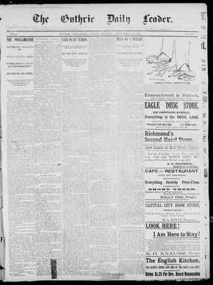 The Guthrie Daily Leader. (Guthrie, Okla.), Vol. 1, No. 257, Ed. 1, Friday, September 29, 1893