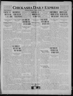Primary view of object titled 'Chickasha Daily Express (Chickasha, Okla.), Vol. 21, No. 291, Ed. 1 Tuesday, December 7, 1920'.